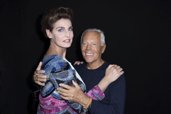 Milano Moda Haftası kapsamında gerçekleşen, Giorgio Armani İlkbahar-Yaz 2016 defilesinde ünlüler geçidi yaşandı.