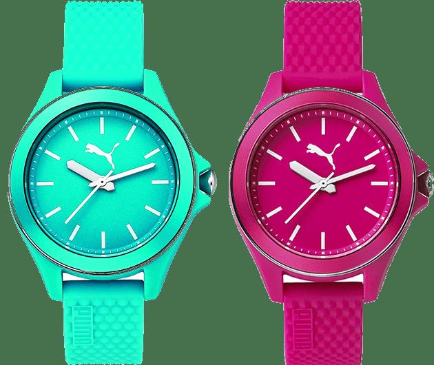 Kadınlar ve erkekler için tasarladığı saat modelleriyle hayatın hızına yetişen Puma, rengarenk bir koleksiyon sunuyor.
