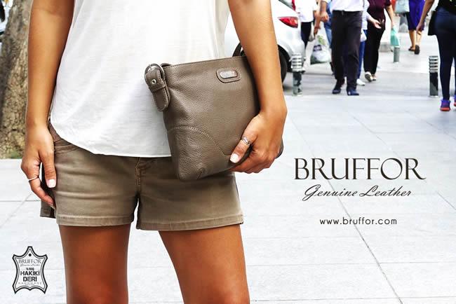 Hakiki kadın deri çantası Bruffor