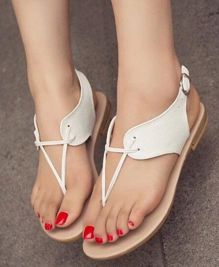Bayan Beyaz Sandalet Modelleri