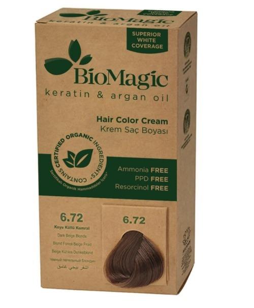 Canlı ve Parlak Renk Veren Saç Boyası Çeşitleri Biomagic keratin argan oil