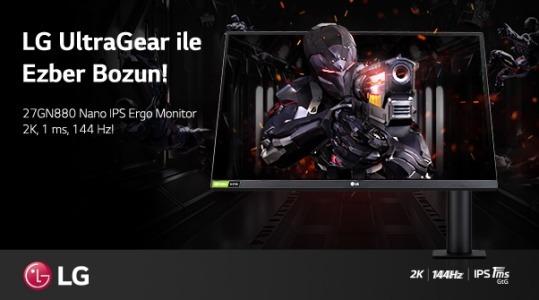 LG UltraGear 27GN880 Nano IPS Ergo Monitör